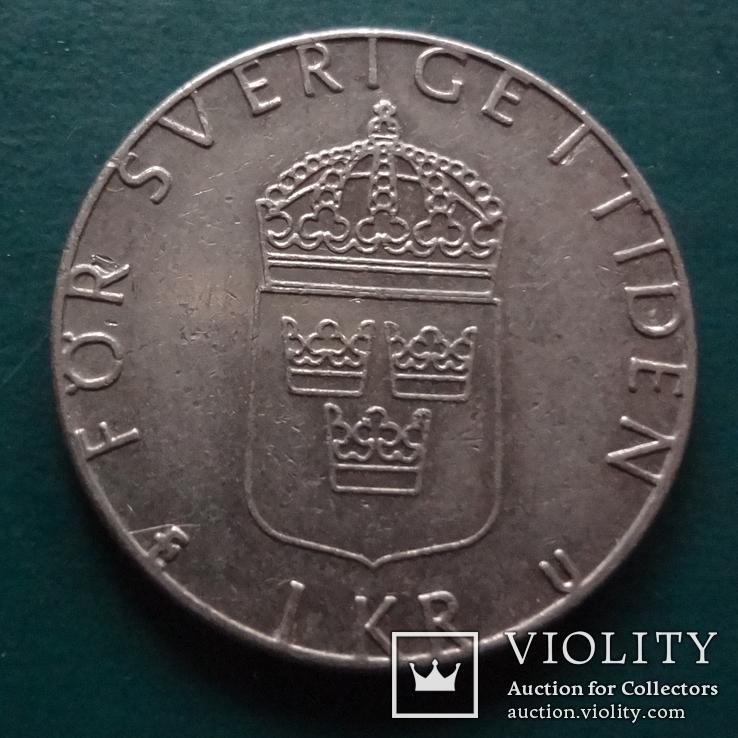1 крона  1981  Швеция  (N.11.12)~, фото №3