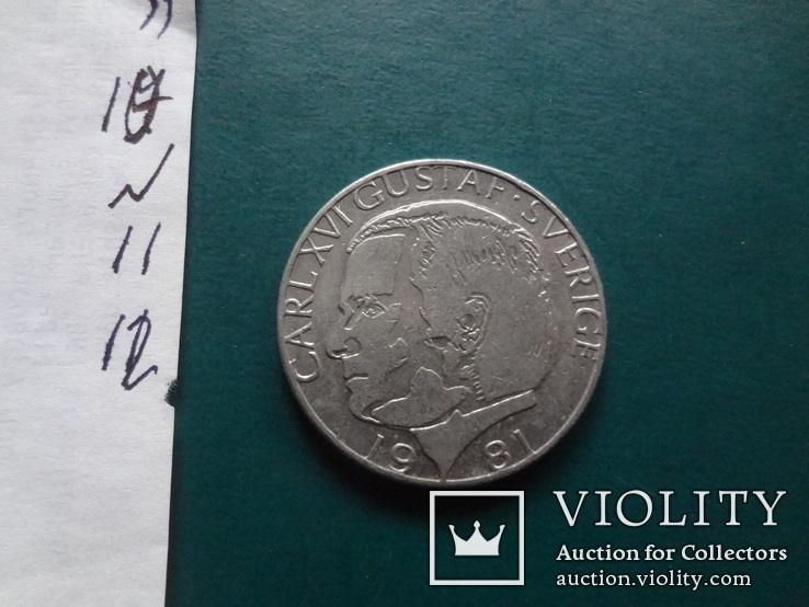 1 крона  1981  Швеция  (N.11.12)~, фото №4