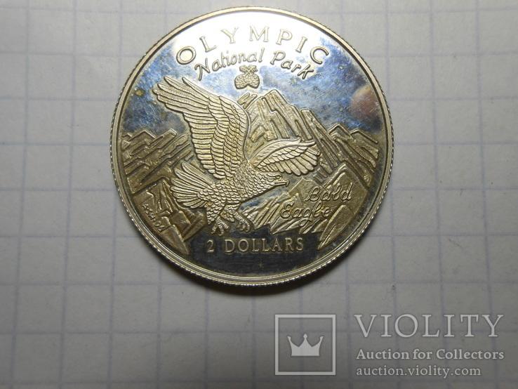 2 доллара 1996 год острова Кука, фото №9