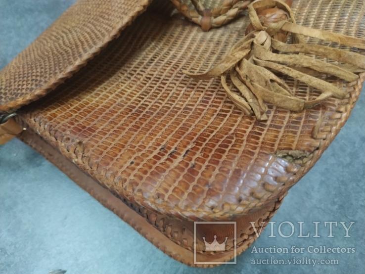 Сумка змеиная кожа питон, фото №4