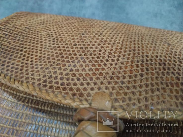 Сумка змеиная кожа питон, фото №5