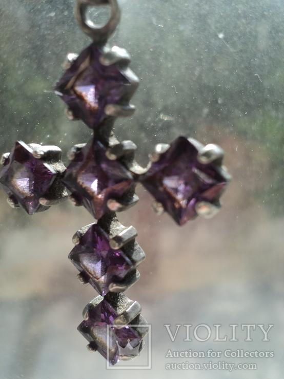 Крестик серебро 925, фото №6