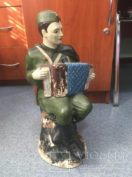 Копилка солдат с гармошкой гипс, фото №2