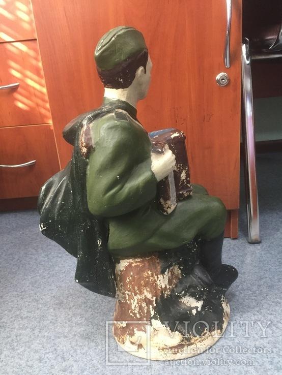 Копилка солдат с гармошкой гипс, фото №3