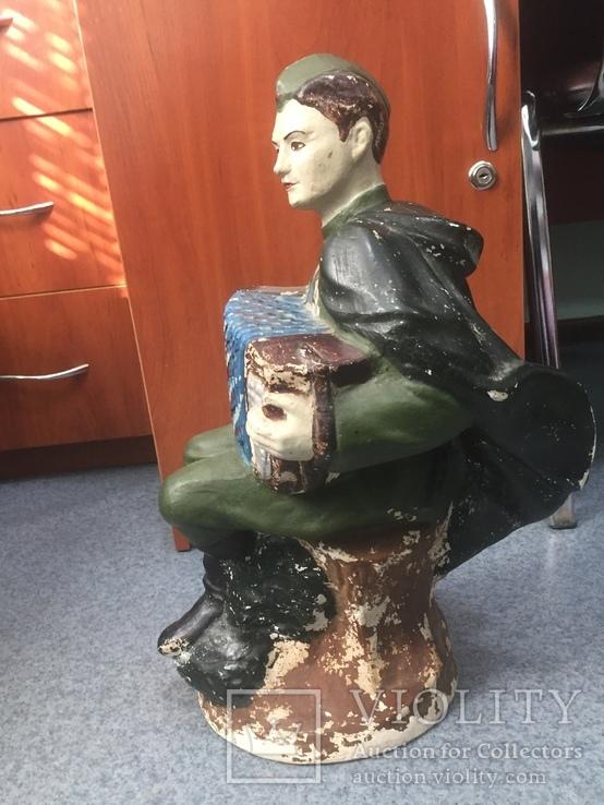 Копилка солдат с гармошкой гипс, фото №5