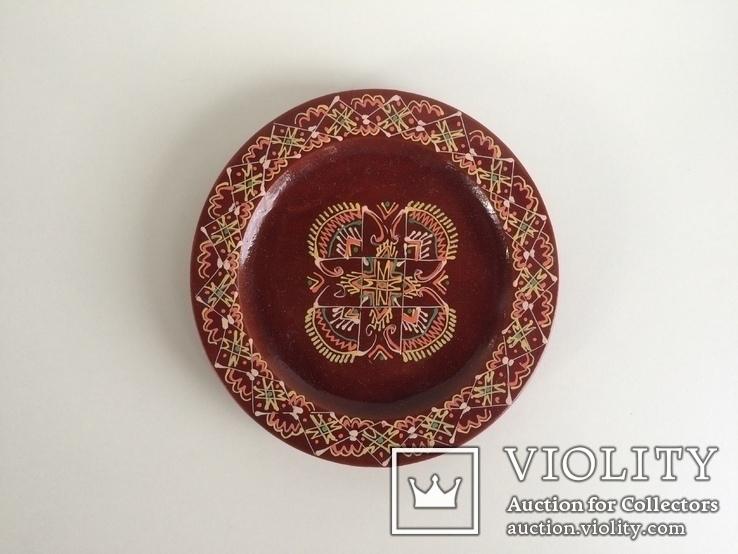 Деревянная декоративная тарелочка, фото №4