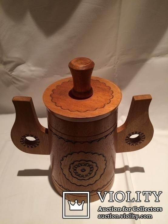 Декоративные деревянная кружка и бочонок., фото №12
