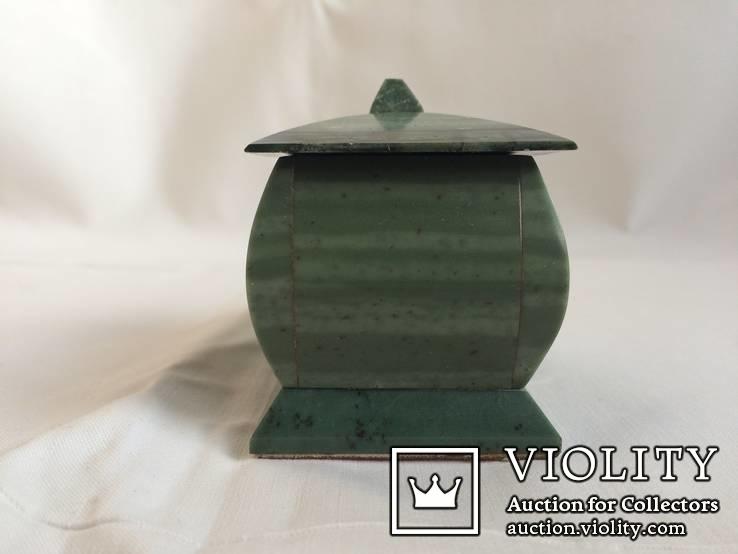 Шкатулка из полосчатого офиокальцита., фото №8