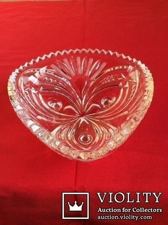 Хрустальная вазочка, конфетница., фото №3