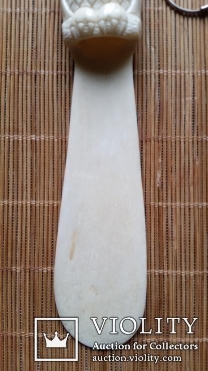 Ложка для взуття, кістка, фото №4