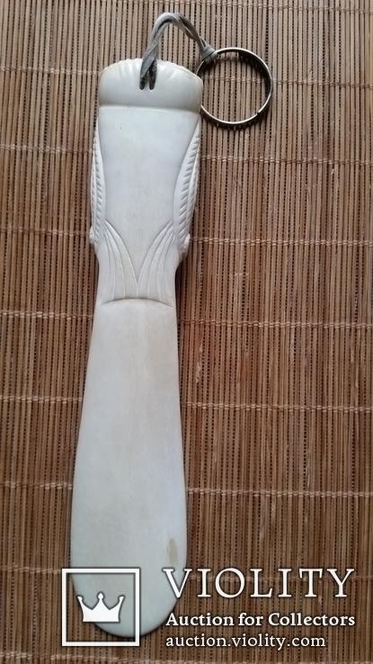 Ложка для взуття, кістка, фото №5
