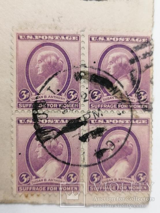 Марки США на конверте, фото №2