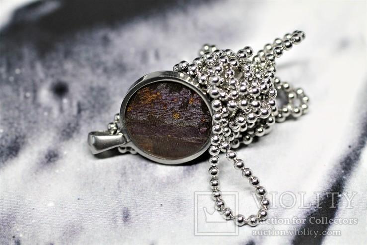 Підвіска із залізо-кам'яним метеоритом Seymchan, із сертифікатом автентичності, фото №9