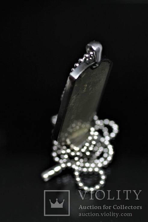 Підвіска-жетон із залізо-кам'яним метеоритом Seymchan, із сертифікатом, фото №5