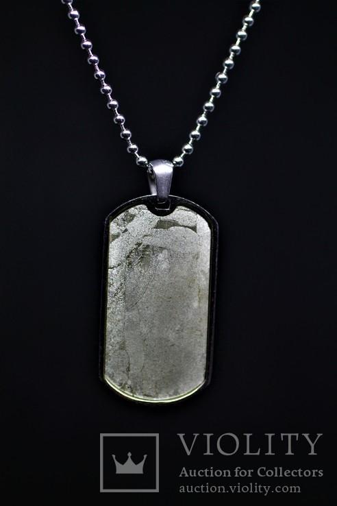 Підвіска-жетон із залізо-кам'яним метеоритом Seymchan, із сертифікатом, фото №2