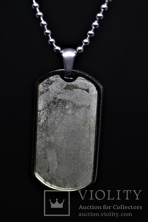 Підвіска-жетон із залізо-кам'яним метеоритом Seymchan, із сертифікатом, фото №6