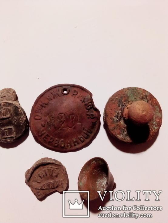 Предметы из копа времён царизма.(знаки, пломбы, печать и др.), фото №2