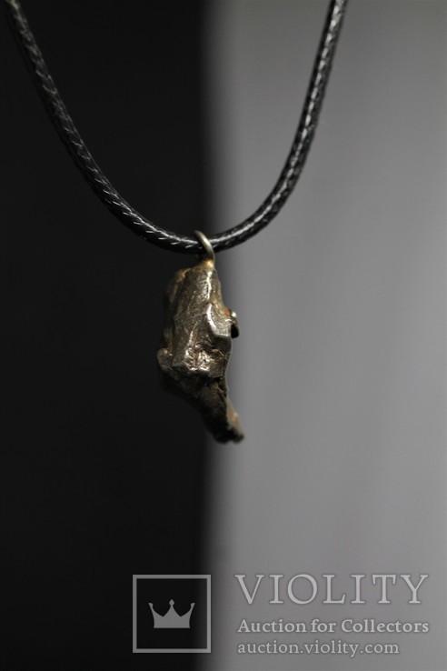 Кулон із залізного метеорита Campo del Cielo, із сертифікатом автентичності, фото №4