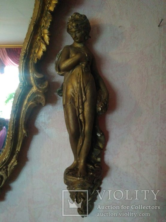 Винтажное зеркало с элементами декора, фото №8