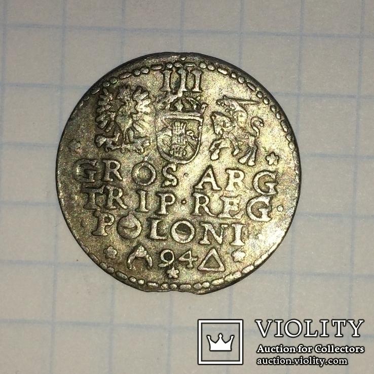 Трояк 1594 ( открытое кольцо и кольцо в POLONI ), фото №2