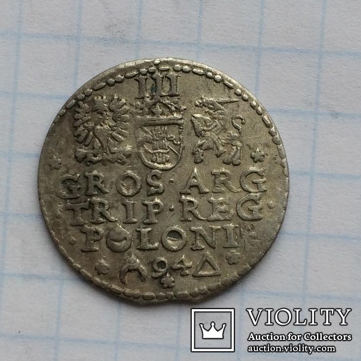 Трояк 1594 ( открытое кольцо и кольцо в POLONI ), фото №6