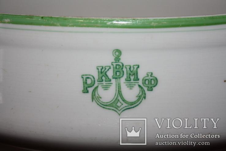 Овальный cалатник-супник РКВМФ без ручек ( зеленый )., фото №3