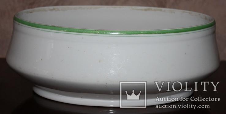 Овальный cалатник-супник РКВМФ без ручек ( зеленый )., фото №6
