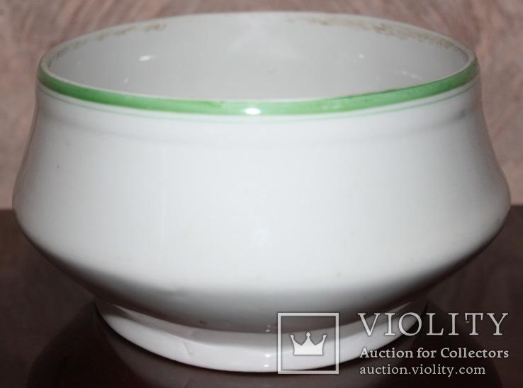 Овальный cалатник-супник РКВМФ без ручек ( зеленый )., фото №7