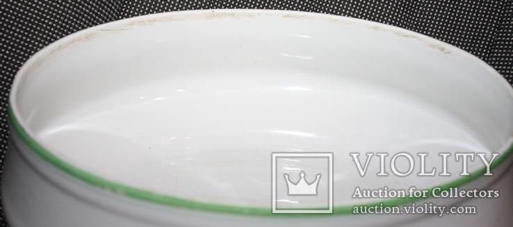Овальный cалатник-супник РКВМФ без ручек ( зеленый )., фото №11