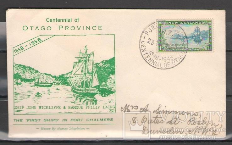 Конверт 100 лет Отаго, Новая Зеландия 1848-1948 год, фото №2