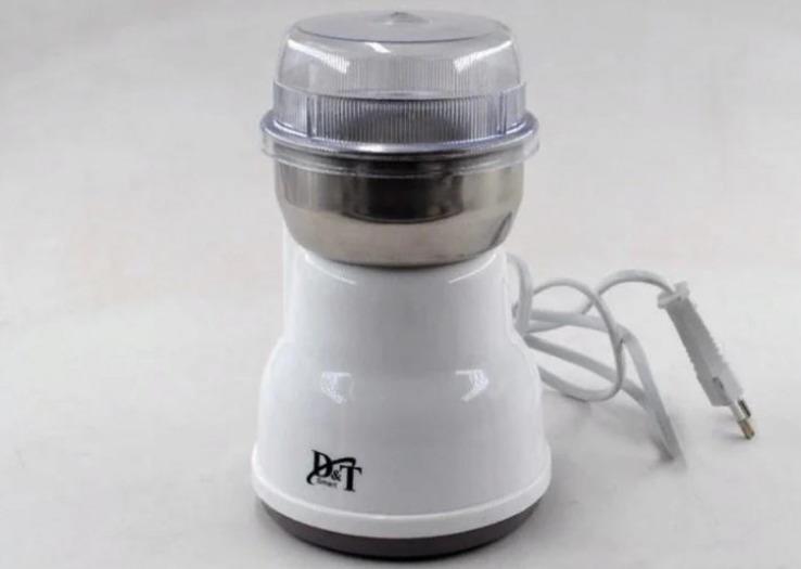Кофемолка бытовая измельчитель нержавеющая сталь D&T Smart DT-594 200Вт, фото №6