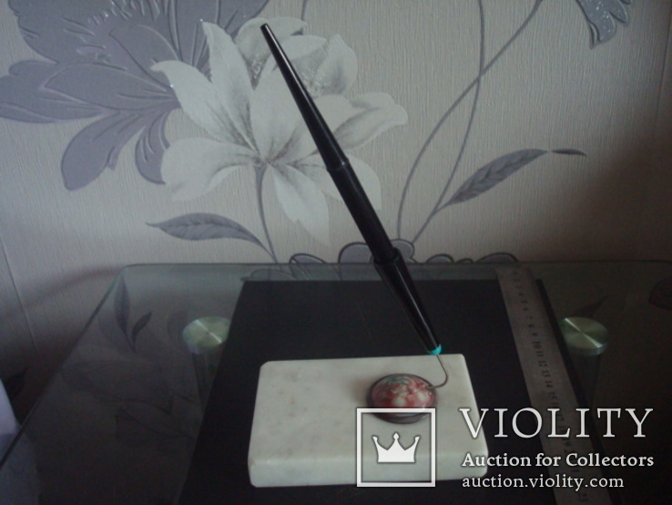 """Набор,чернильная авторучка на мраморной подставке """"Ракета"""", фото №3"""