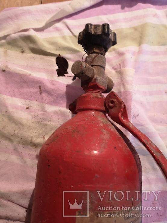 Огнетушитель СССР винтаж углекислотно-снежный, фото №6
