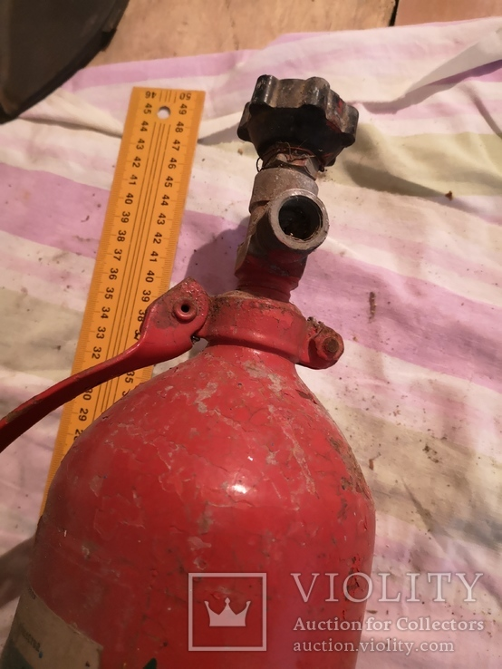 Огнетушитель СССР винтаж углекислотно-снежный, фото №8