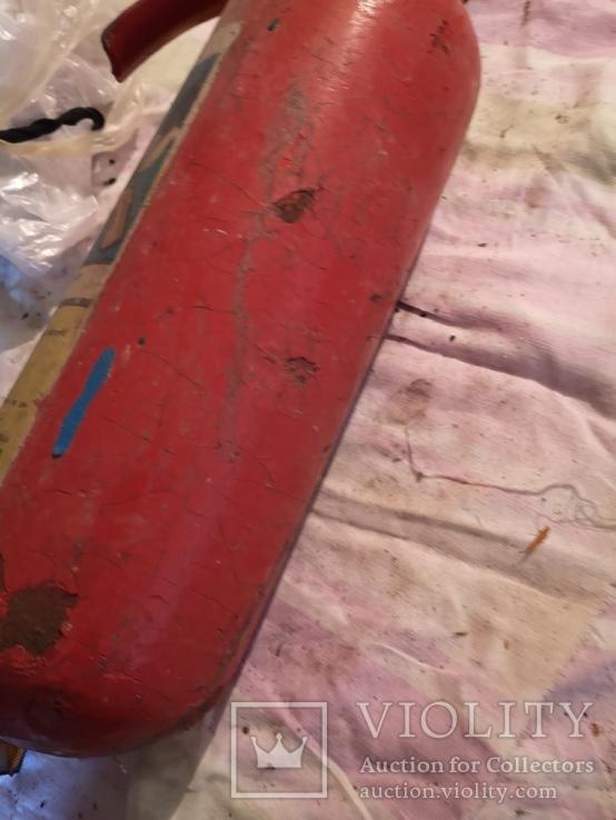Огнетушитель СССР винтаж углекислотно-снежный, фото №9