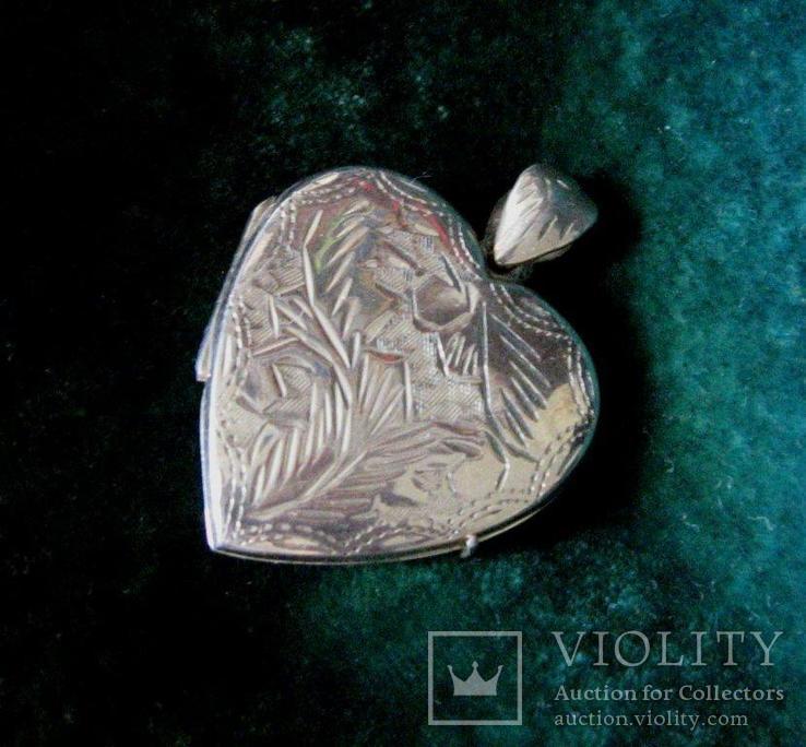 Кулон Медальон Локет Серебро 925 пр. Европа Серебряный кулон, фото №2