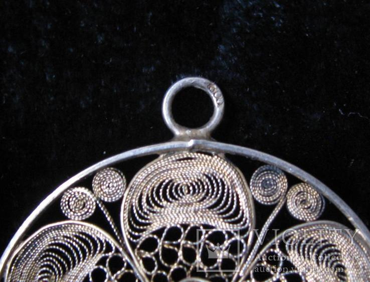 Кулон Подвеска Серебро 800 пр.Германия Серебряный кулон, фото №4