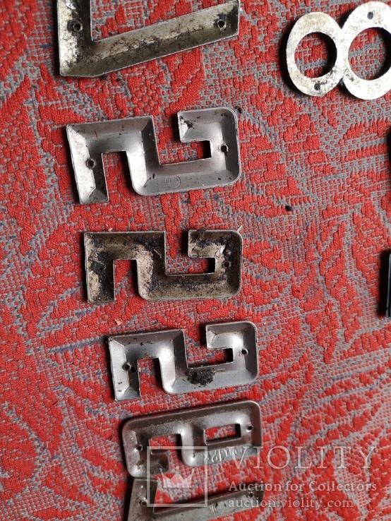 Цыфры на входную дверь метал СССР номер квартиры дома, фото №5