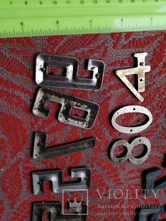 Цыфры на входную дверь метал СССР номер квартиры дома, фото №6