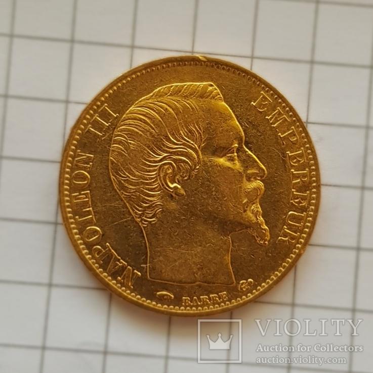 Франция, 20 франков 1858г., золото 6,45г.