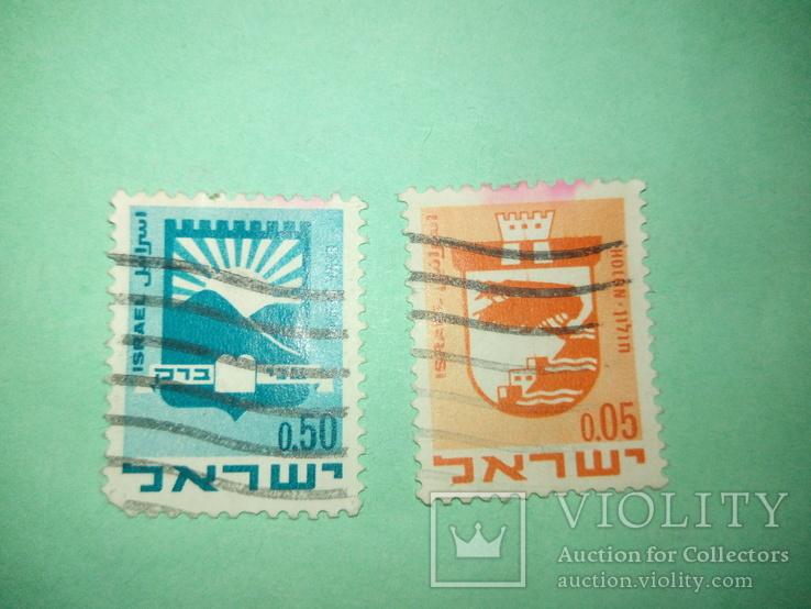 Марки Израиля 2шт.