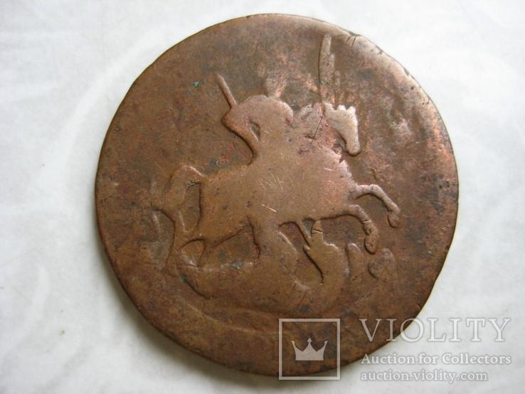 2 копейки 1757г (перечекан), фото №3