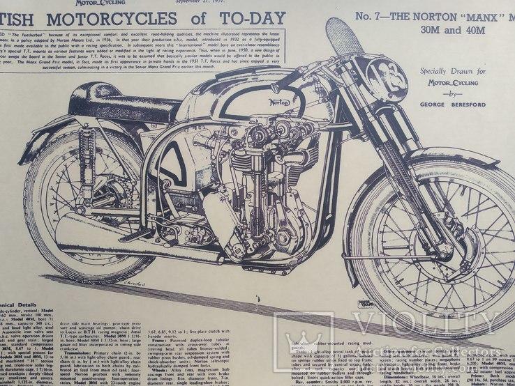 """Постер """"Model motorcycles Norton Manx"""", фото №3"""