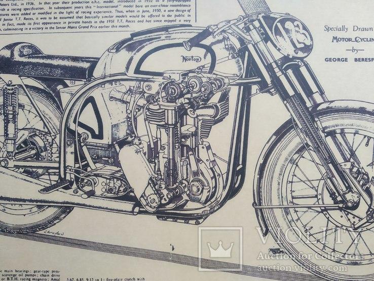 """Постер """"Model motorcycles Norton Manx"""", фото №4"""