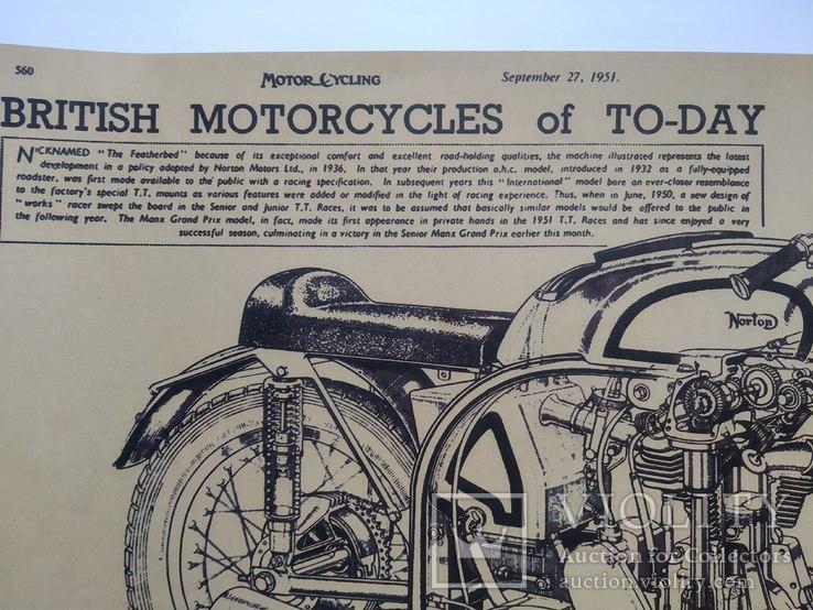 """Постер """"Model motorcycles Norton Manx"""", фото №5"""