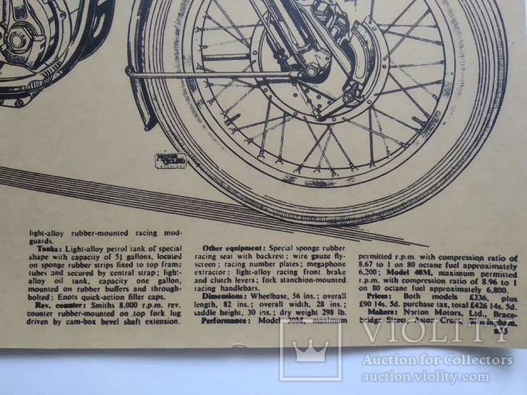"""Постер """"Model motorcycles Norton Manx"""", фото №8"""