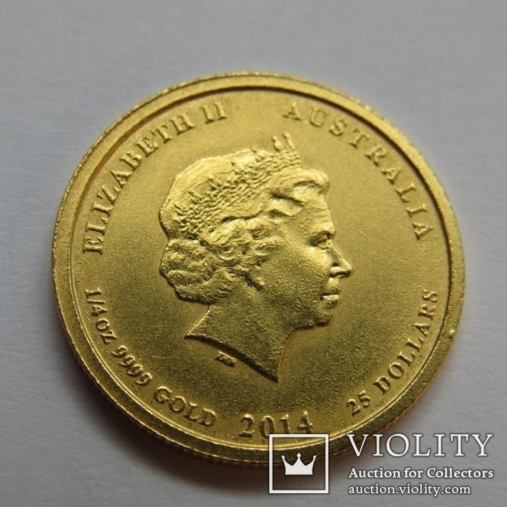 25 долларов 2014 г. Австралия лунар (1/4 oz 999,9) Лошадь, фото №5
