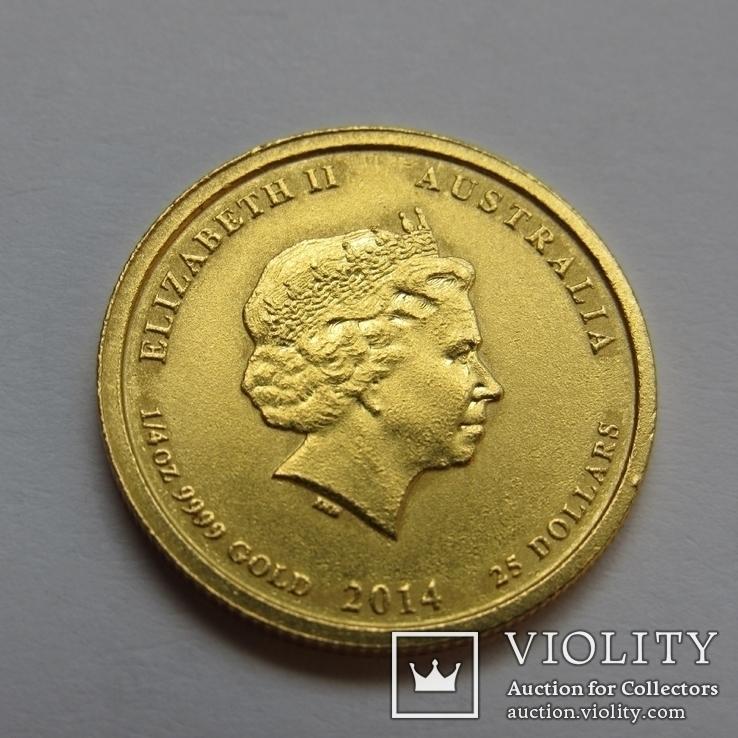 25 долларов 2014 г. Австралия лунар (1/4 oz 999,9) Лошадь, фото №7
