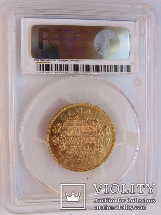 10 долларов 1913 г. Канада (AU58), фото №3