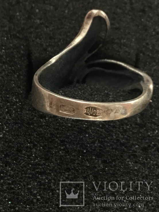 Кольцо серебряное, фото №7